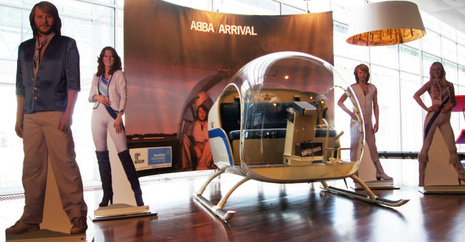 ABBA Arrival helicopter at Stockholm Arlanda airport