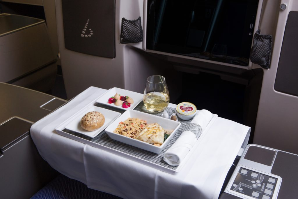 Brussels Airlines business class meals from Peter Goossens