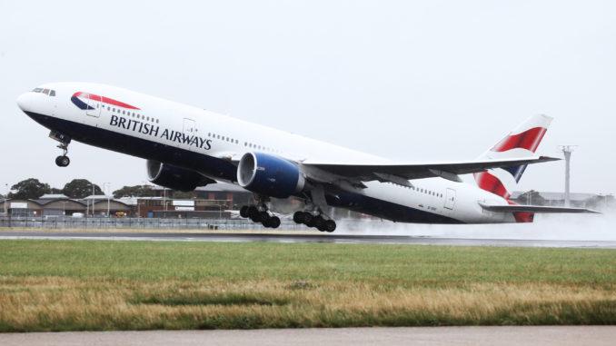 British Airways Boeing 777 taking off