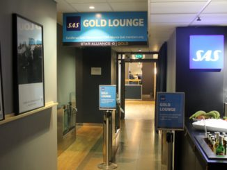 Entrance to SAS Gold Lounge, Oslo Gardermoen