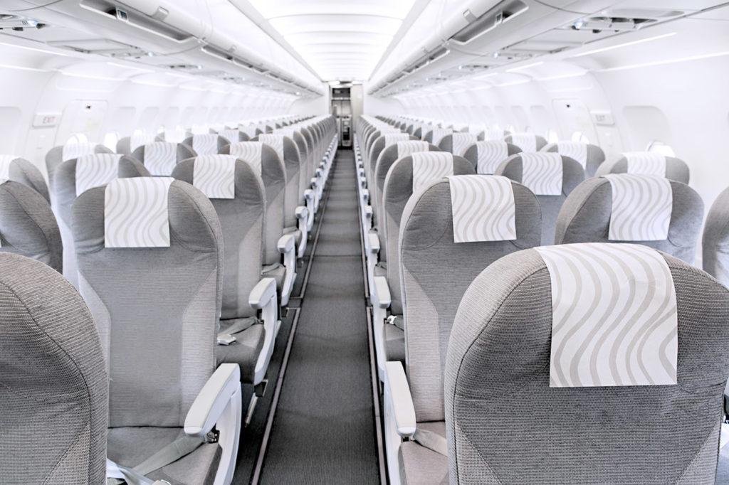 Finnair Airbus A320 cabin
