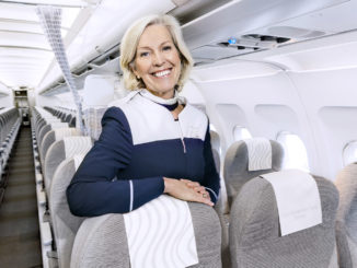 Finnair Airbus A320 flight attendant