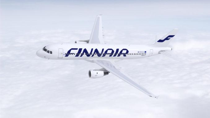 Finnair Airbus A320 in the air