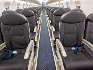 LOT Embraer 195 cabin with seats