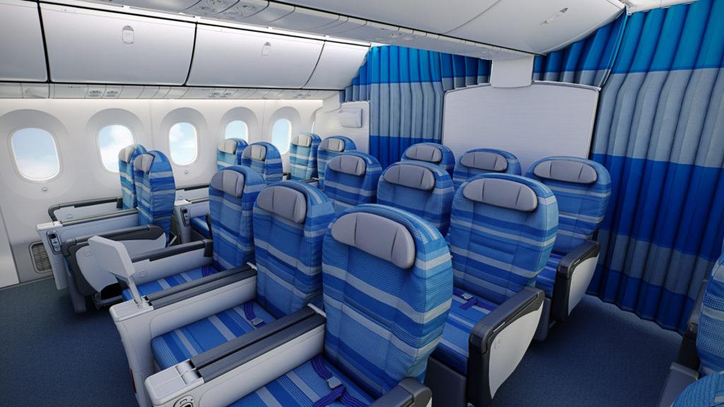 LOT Premium Class cabin Boeing 787 Dreamliner