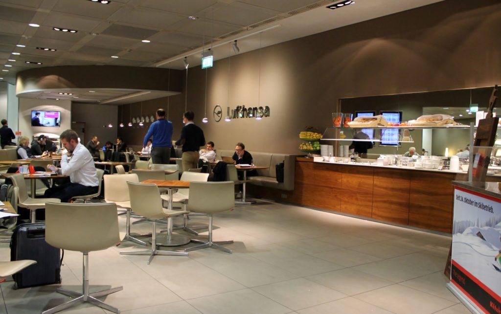 Austrian Airlines Business Class Munich-Vienna lounge
