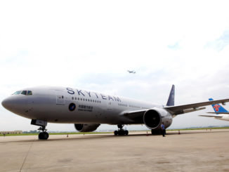 China Southern aircraft with Skyteam livery