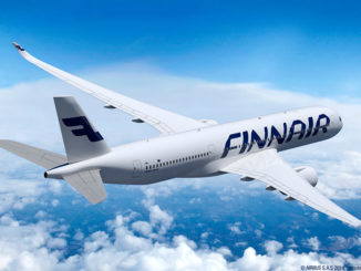 Finnair Airbus A350 XWB in the sky