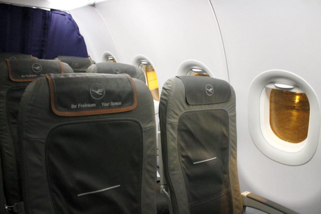Lufthansa Business Class Stockholm-Munich the seat