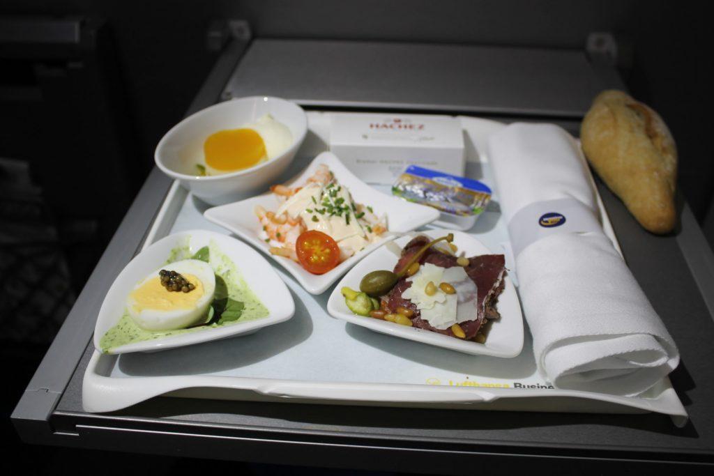 Lufthansa Business Class Stockholm-Munich meal