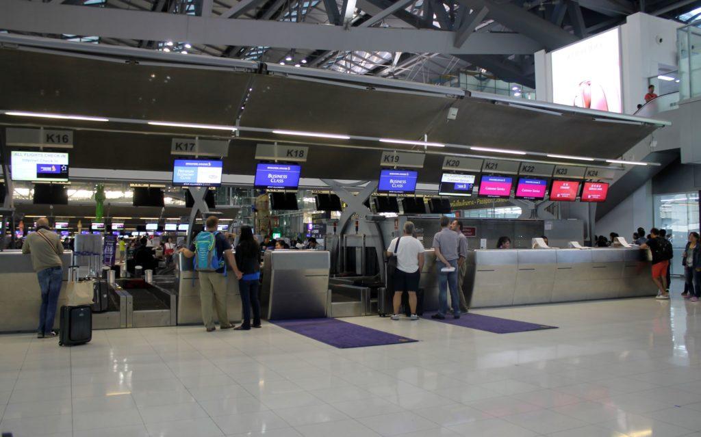 Singapore Airlines Economy Class Bangkok-Singapore Changi check-in