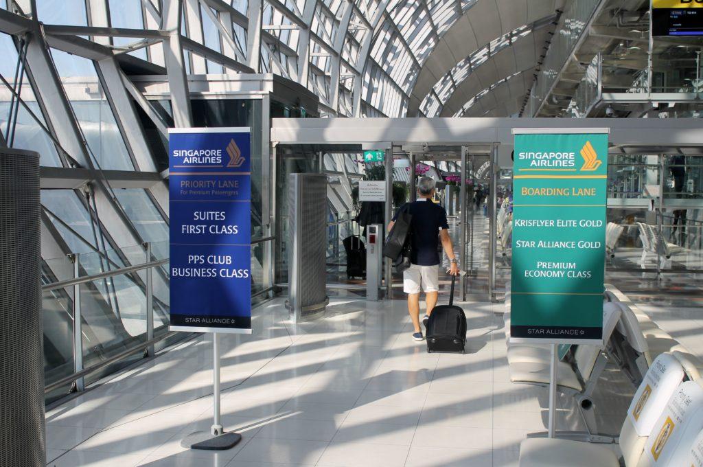 Singapore Airlines Economy Class Bangkok-Singapore Changi priority boarding