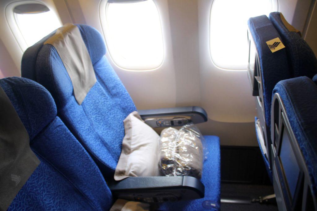 Singapore Airlines Economy Class Bangkok-Singapore Changi seat