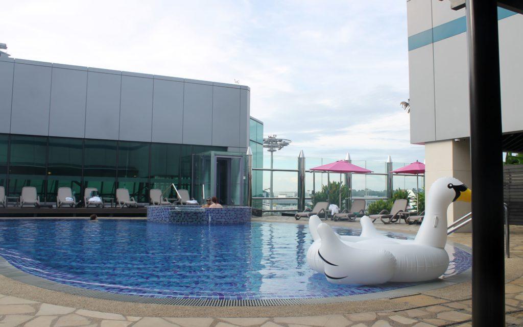 Swimming pool, Singapore Changi transit hall terminal 1