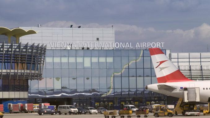 Vienna Schwechat Airport with Austrian Airlines aircraft