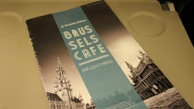 Brussels Airlines menu