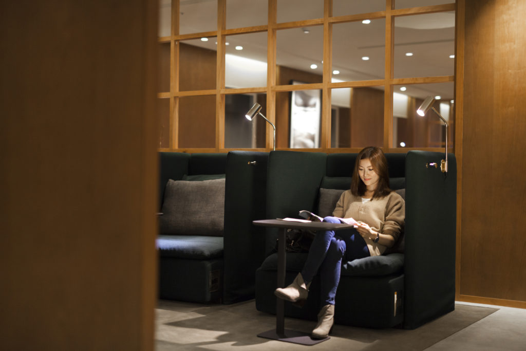 Cathay Pacific New Lounge Taipei Solo Chair