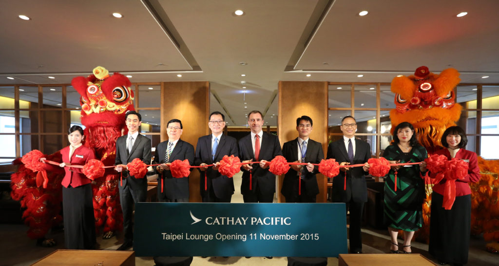 Cathay Pacific New Lounge Taipei inauguration