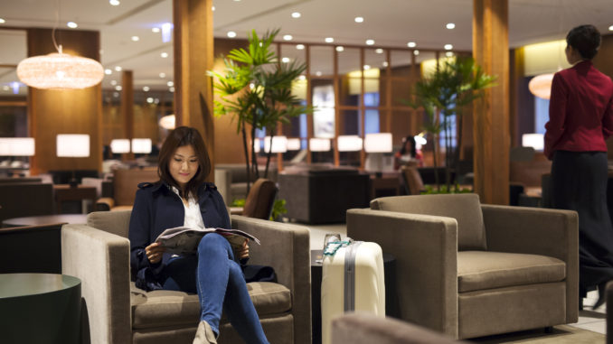 Cathay Pacific New Lounge Taipei seating areas