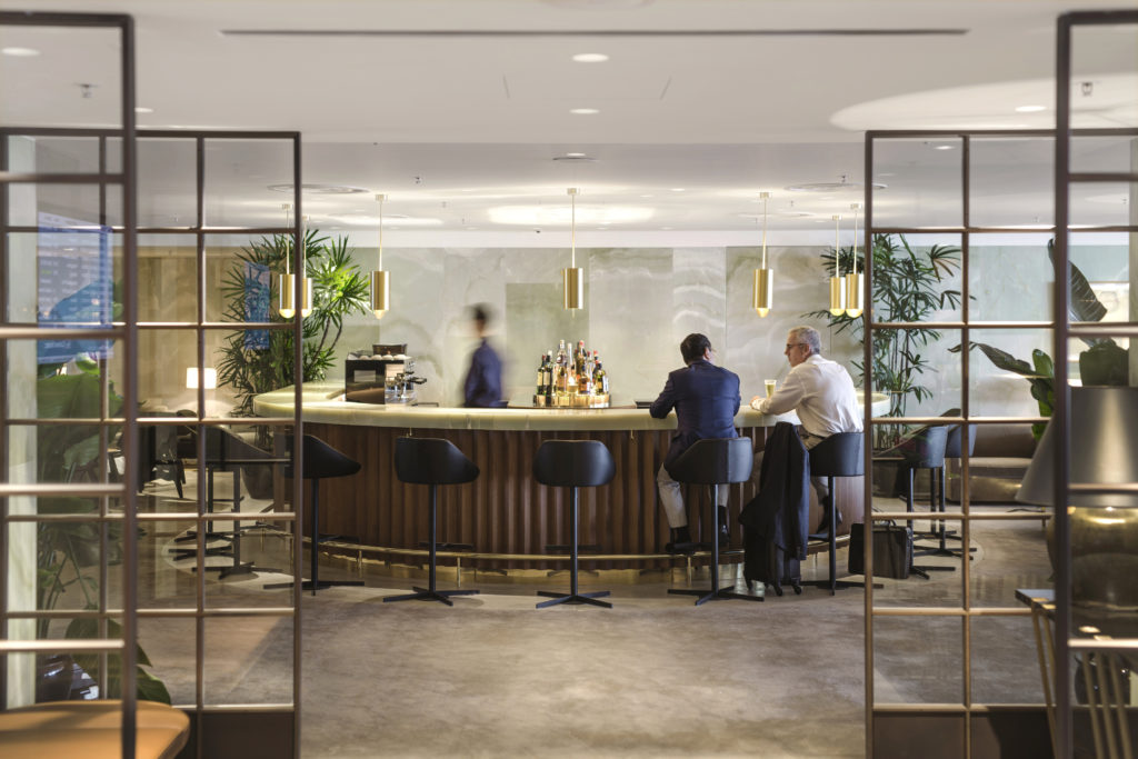 Cathay Pacific The Pier First Class Lounge Hong Kong bar