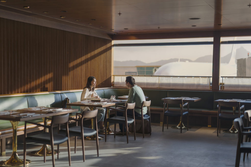 Cathay Pacific The Pier First Class Lounge Hong Kong dining room