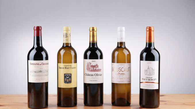 Cathay Pacific promotional wines in first class from Bordeaux