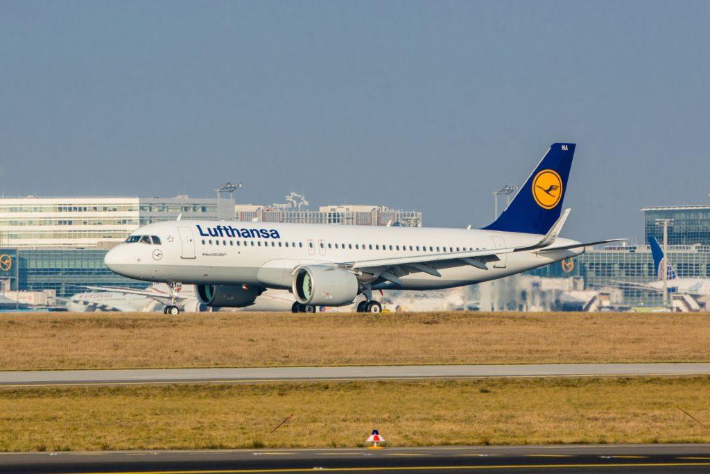 First Lufthansa Airbus A320NEO in Frankfurt