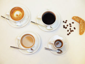 Signature coffee from illy in Cathay Pacific first class and business class