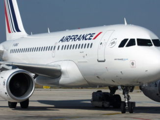 Air France Airbus A319 on the apron at Paris CDG