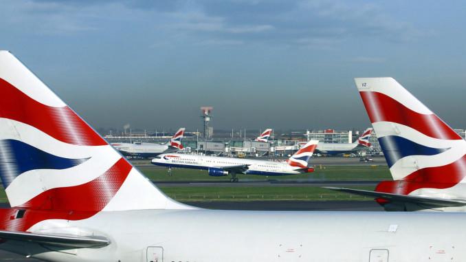 British Airways aircrafts at London Heathrow