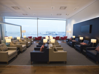 British Airways lounge Amsterdam Schiphol interior