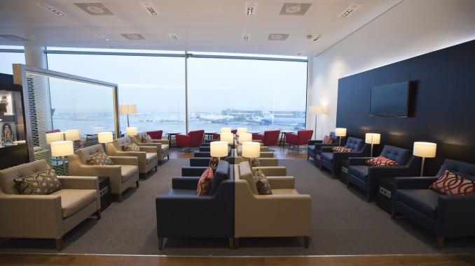 British Airways lounge Amsterdam Schiphol interior