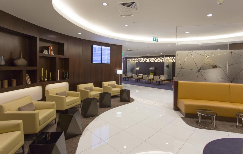 Etihad new Premium Lounge Abu Dhabi interior