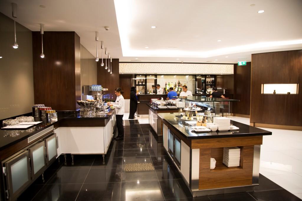 Etihad new Premium Lounge Abu Dhabi self service buffet