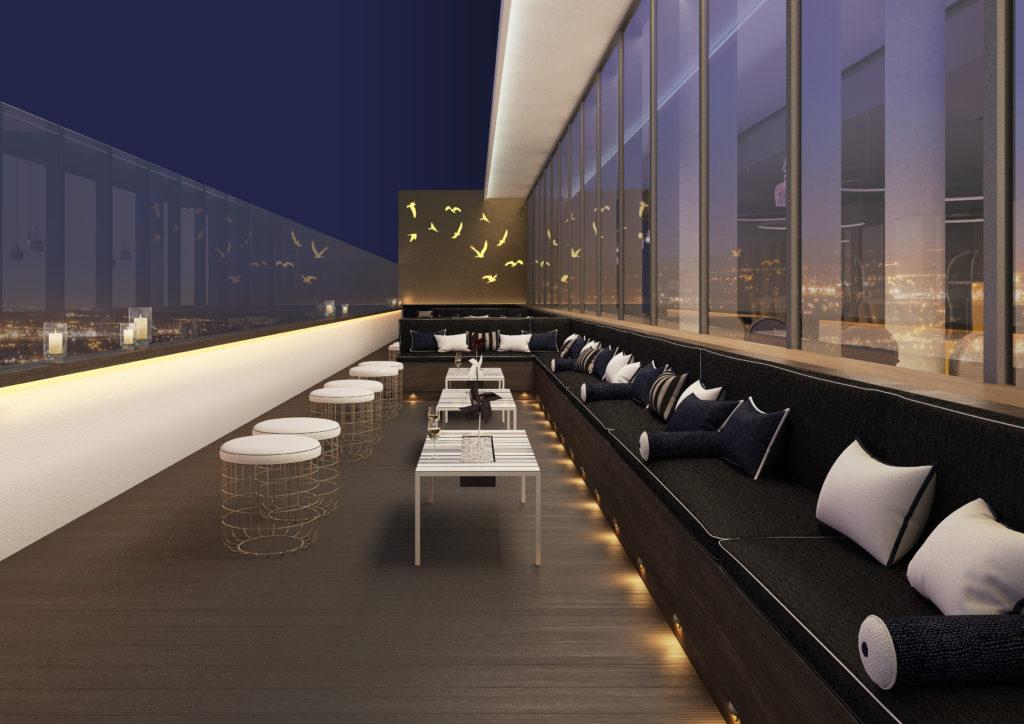 Hilton Bournemouth Hotel LEVEL8IGHT sky bar