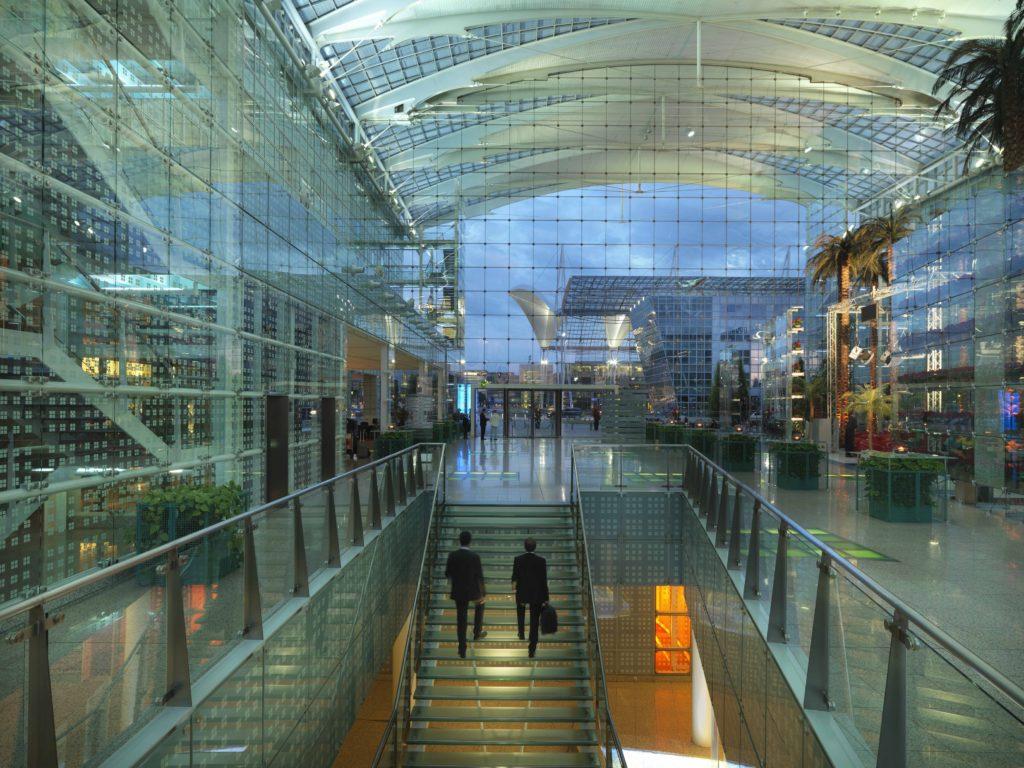 Hilton Munich Airport Hotel lobby