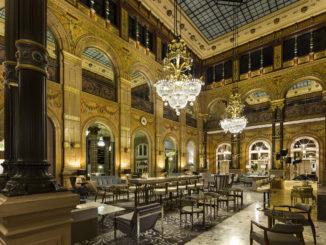 Hilton Paris Opera Hotel Le Grand Salon with chandeliers