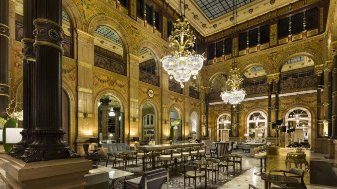 Hilton Paris Opera Hotel Le Grand Salon with chandeliers