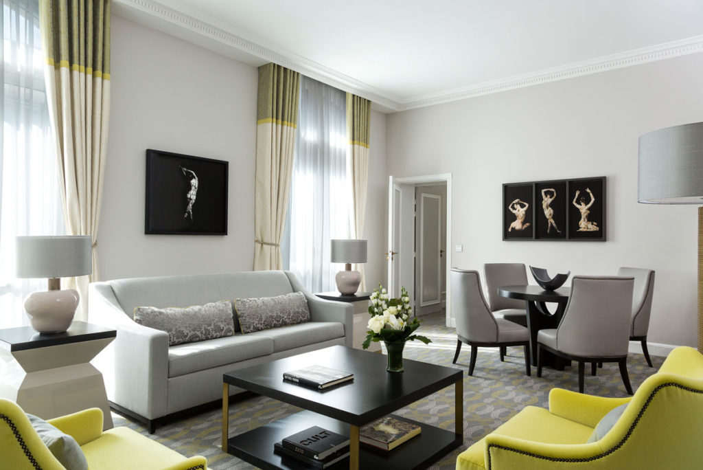 Hilton Paris Opera Hotel Maria Callas suite living room