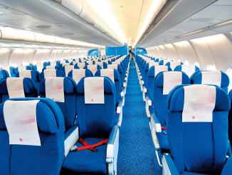 KLM Airbus A330-200 economy class cabin