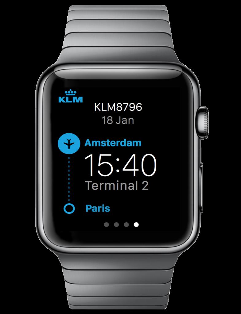 KLM Apple Watch app