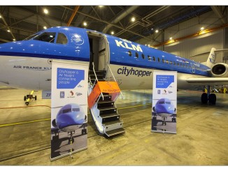 KLM Fokker 70 in the hangar, to be sold to Air Niugini