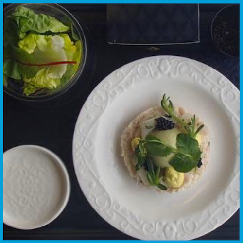 KLM World business class meal by Jonnie Boer starter
