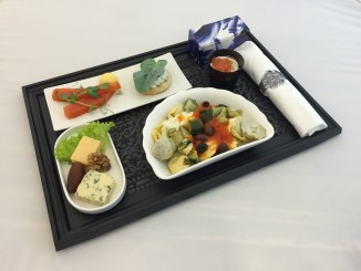 KLM intra-Europe business class meal