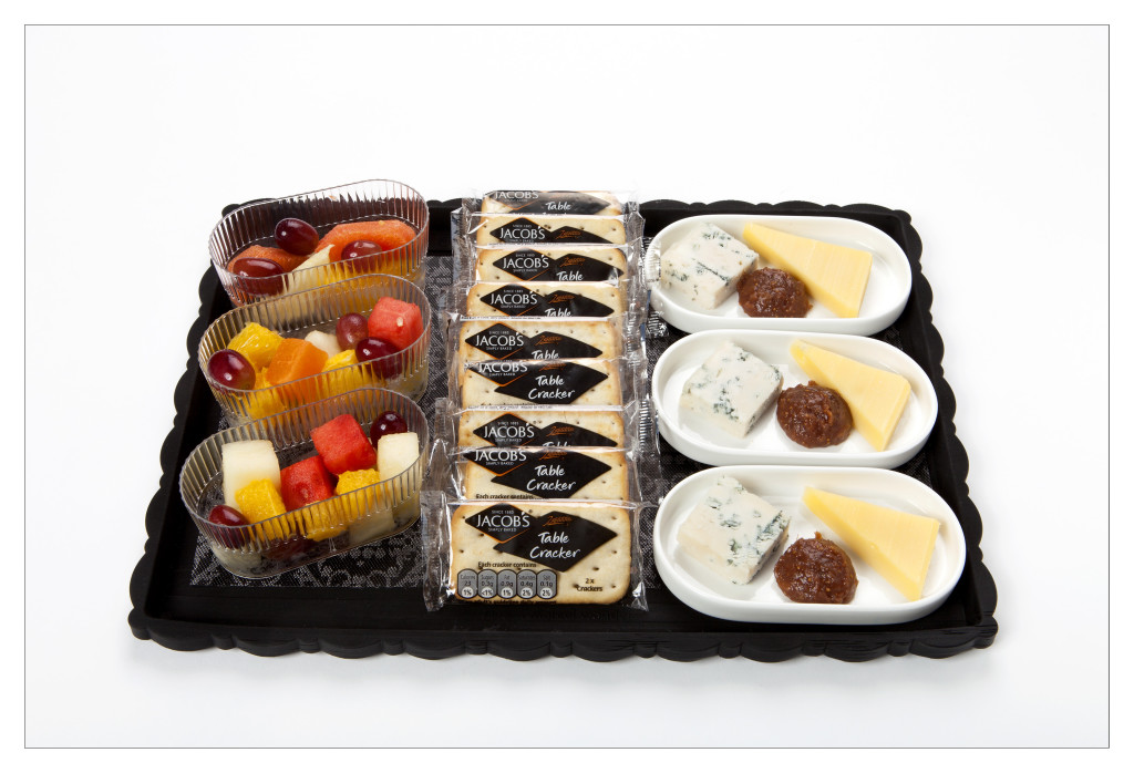 KLM new World Business Class chef Jacob Jan Boerma - cheese, crackers and fruits
