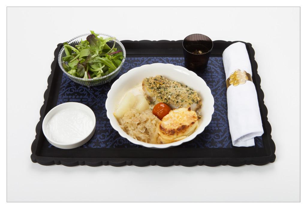 KLM new World Business Class chef Jacob Jan Boerma - main course fish