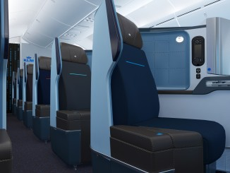 KLM new business class seat on Boeing 787 Dreamliner