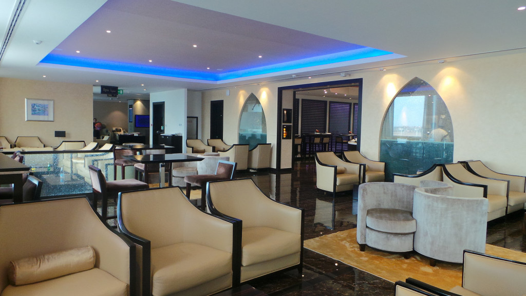 Oman Air lounge in Muscat
