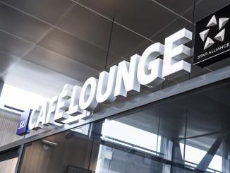 SAS Cafe Lounge sign