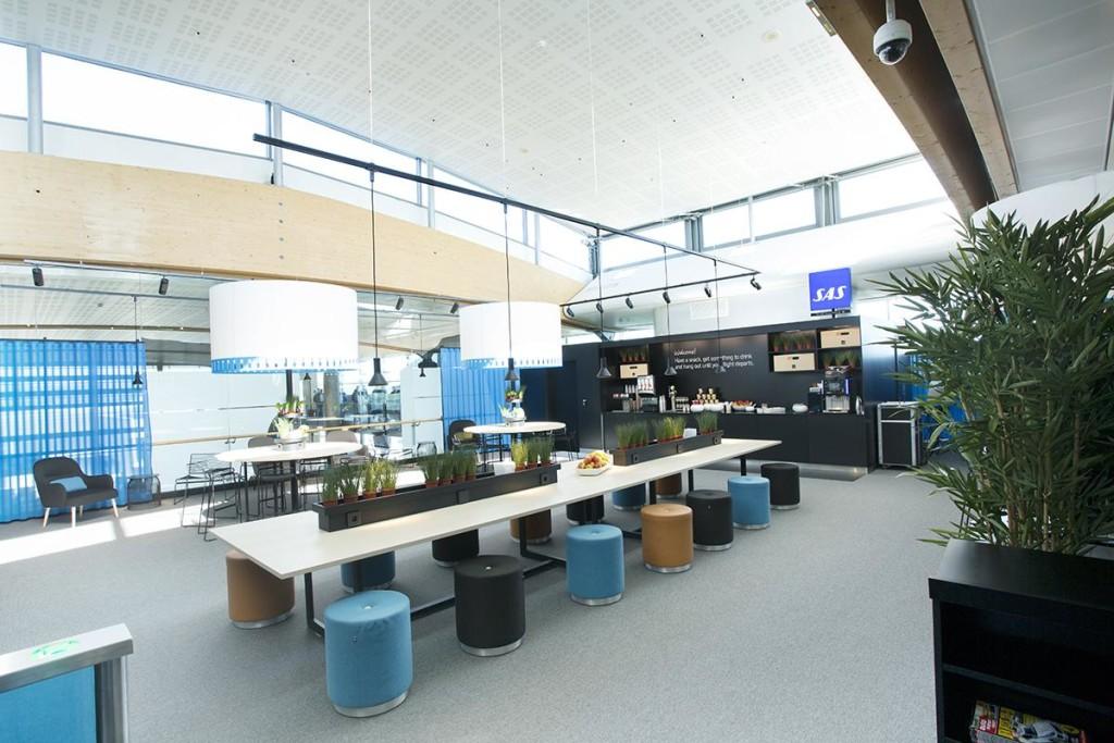 SAS domestic lounge Oslo Gardermoen airport